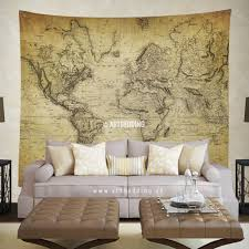 Old World Map Wallpaper by Vintage World Map Wall Tapestry Vintage Interior World Map Wall