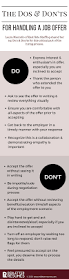 Making A Job Resume by The Dos U0026 Don U0027ts Of The Job Offer Make Sure You Have All The