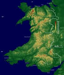 Geographical Map Of Europe by Large Detailed Physical Map Of Wales Wales United Kingdom