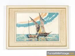 Nautical Painting Mid Century Modern Elmo Gideon Painting