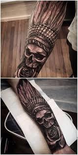 indian skull tatting and artist