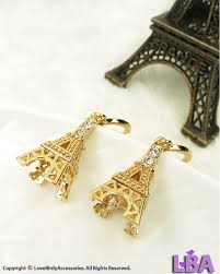 Eiffel Tower Accessories Inspired By Landmark High Quality Gold Plated France Landmark