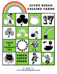 s day bingo st s day lucky bingo free printables the crafting