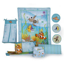 Portable Crib Bedding Sets For Boys by Disney Finding Nemo 8 Piece Crib Bedding Set Kids Line Babies