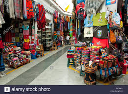 colorful articles for sale in the shops of miraflores lima peru