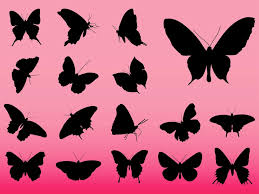 butterflies vector silhouettes vector graphics freevector com