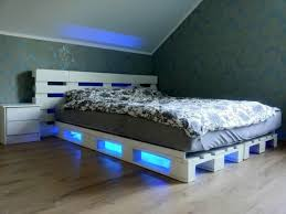bed frame with lights pallet bed frame with lights lights queen size wooden pallet bed