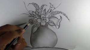 3d flower pencil drawing drawing of sketch
