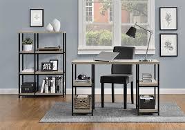 kids double desk amazon com altra elmwood double pedestal desk sonoma oak