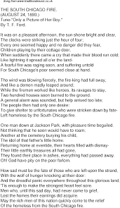 old time song lyrics for 40 the south chicago fire