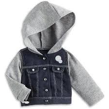 jean sweater jacket hooded denim jacket for dolls truly me