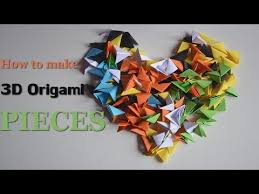 3d origami beginner tutorial how to fold the pieces 3d origami basics diy crafts tutorials