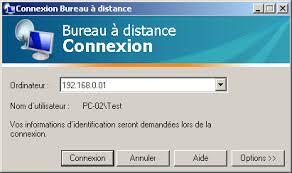 port connexion bureau à distance contrôle à distance