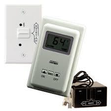 shop skytech ts r 2 wireless wall mounted thermostat fireplace