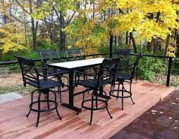 Outdoor Bar Table Set Outdoor Pub Table And Chairs Sets Feel The Home Patio Pub Table