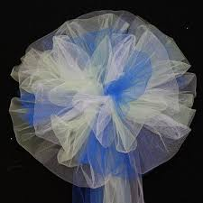 pew decorations for weddings royal blue mint white tulle wedding pew bows church ceremony aisle