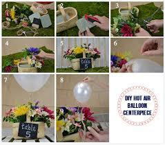 Balloon Diy Decorations Diy Air Balloon Centerpiece Love Inc Maglove Inc Mag