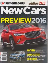 consumer reports new cars preview 2016 magazine november 2015
