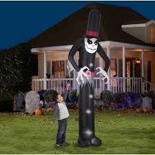 Inflatable Lawn Decorations Gemmy Airblown Inflatable 12 U0027 X 4 U0027 Giant Skelton Halloween
