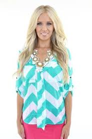 lime lush boutique mint and white chevron blouse 42 99 http