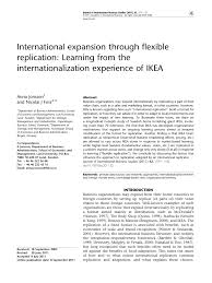 Ikea 2006 Catalog Pdf by International Expansion Through Flexible Replication Learning