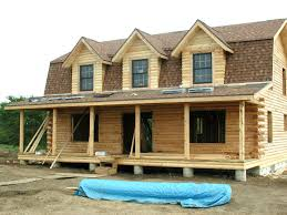 Two Story Log Homes Photos