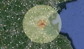 Radius On A Map What If Your Hometown Were Hit By The Hiroshima Atomic Bomb