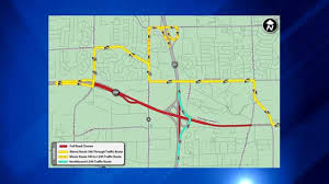 Ohare Map Elgin O U0027hare Expressway To Close In Both Directions Overnight This