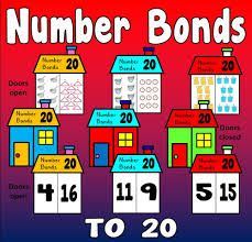 number bonds to 10 and 20 flash cards by missehill teaching
