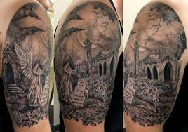 graveyard tattoos design and ideas