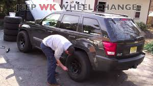 silver jeep liberty with black rims 2005 2010 jeep grand cherokee wk wheel change swap
