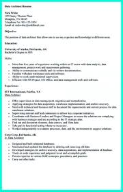 Collections Resume Sample by Data Architect Resume 22 Nice Outstanding Data Architect Resume