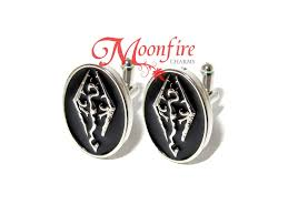 skyrim earrings skyrim elder scrolls logo cufflinks moonfire charms