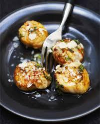 cuisiner noix de st jacques surgel馥s coquilles jacques roties aux herbes et parmesan pour 6