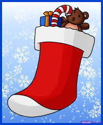 Stocking Stuff How To Draw A Stocking Step By Step Christmas Stuff Seasonal