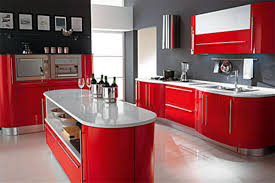 Red And Black Kitchen Cabinets by The Variety Of Red Kitchen Cabinets Home Design And Decor Ideas