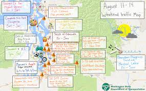traffic map psa weekend traffic map from wsdot seattlewa