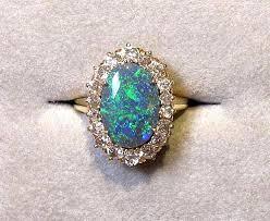 black opal engagement rings black opal diamond ring black opal engagement rings for sale placee
