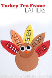 turkey feather ten frames turkey craft ten frames and math