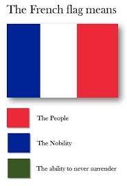 Meme Meaning French - france loves to surrender flag color representation parodies