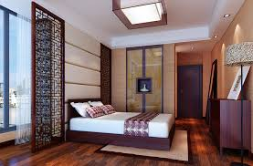 Chinese Bedroom Chinese Bedroom With Panes And Floor Lamps 3d House