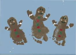 gingerbread man footprint i created this over the weekend with