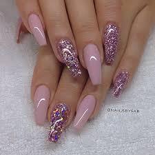 best 25 acrylic nails glitter ideas on pinterest glitter nails