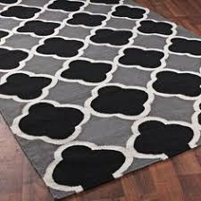 Black White Area Rug Quatrefoil Dhurrie Ruga Quatrefoil Trellis Rug Is Stylish Black