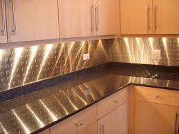 Metal Backsplash For Kitchen L Shape Kitchen Decoration Using Stainless Steel Counter Tops