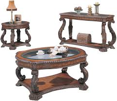 Traditional Coffee Tables by Coaster Furniture 3891 3892 3893 Coffee Table End Table Sofa Table Set