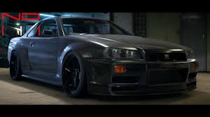 nissan skyline modified nissan skyline gt r v spec 1999 modified nfs2015 sound youtube