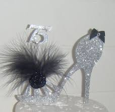 high cake topper shoe cake topper