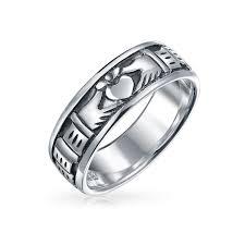 sterling mens rings engravable mens bands u0026 tungsten rings