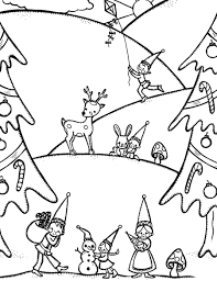 gnome free winter coloring pages winter coloring pages of